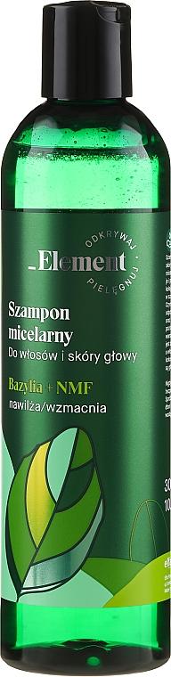 Stärkendes Shampoo gegen Haarausfall mit Basilikum Extrakt - _Element Basil Strengthening Anti-Hair Loss Shampoo