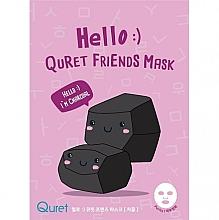 Düfte, Parfümerie und Kosmetik Reinigende Tuchmaske für das Gesicht mit Aktivkohle - Quret Hello Friends Mask Charcoal