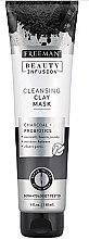 Düfte, Parfümerie und Kosmetik Klärende Gesichtsmaske mit Aktivkohle und Probiotika - Freeman Beauty Infusion Cleansing Clay Mask Charcoal & Probiotics