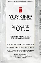Düfte, Parfümerie und Kosmetik Klärende 2-Schritt-Gesichtsmaske mit Vulkanasche - Yoskine Asayake Pure Pore Purifying Volcanic Thermal Treatment Scrub + Mask
