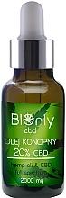 Düfte, Parfümerie und Kosmetik Hanfsamenöl mit 20% Cannabidiol - BIOnly
