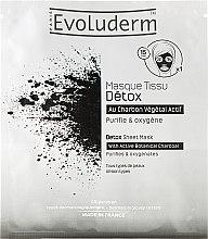 Düfte, Parfümerie und Kosmetik Gesichtsreinigungsmaske - Evoluderm Detox Sheet Mask