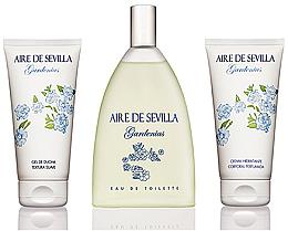 Düfte, Parfümerie und Kosmetik Instituto Espanol Aire De Sevilla Gardenias - Duftset (Eau de Toilette 150ml + Parfümierte Körpercreme 150ml + Duschgel 150ml)