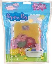 Düfte, Parfümerie und Kosmetik Kinder-Badeschwamm Peppa Pig gelb-rosa - Suavipiel Peppa Pig Bath Sponge