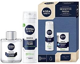 Düfte, Parfümerie und Kosmetik Rasierset - Nivea Men Sensitive 2019 (Rasierschaum 200ml + After Shave Balsam 100ml)