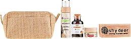 Düfte, Parfümerie und Kosmetik Gesichtspflegeset - Shy Deer (Gesichtsmaske 50ml + Gesichtspeeling 100ml + Tee 90g + Haarband + Kosmetiktasche)