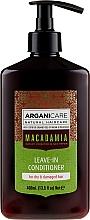 Düfte, Parfümerie und Kosmetik Haarspülung mit Macadamia für strapaziertes und trockenes Haar ohne Ausspülen - Arganicare Macadamia Leave-in Conditioner