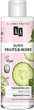 Düfte, Parfümerie und Kosmetik Beruhigendes Gesichtstonikum mit Gurke und Salbei für empfindliche Haut - AA Super Fruits & Herbs Healthy Matt