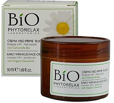 Feuchtigkeitsspendende Gesichtscreme mit Bio Kamille gegen die ersten Falten für empfindliche Haut - Phytorelax Laboratories Viso Prime Rughe Bio Crem — Bild N1