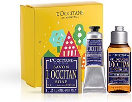 Düfte, Parfümerie und Kosmetik L'Occitane Pour Homme - Körperpflegeset (Duschgel 75ml + After Shave Balsam 30ml + Seife 50g)