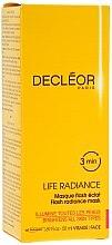 Düfte, Parfümerie und Kosmetik Gesichtsmaske mit ätherischen Ölen und Fruchtsäurekomplex - Decleor Life Radiance Flash Mask