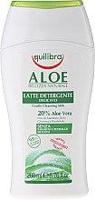 Düfte, Parfümerie und Kosmetik Reinigungsmilch für emprindliche Haut mit Aloe Vera - Equilibra Aloe Cleansing Milk