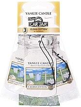 Düfte, Parfümerie und Kosmetik Papier-Lufterfrischer Clean Cotton 3 St. - Yankee Candle Car Jar Clean Cotton