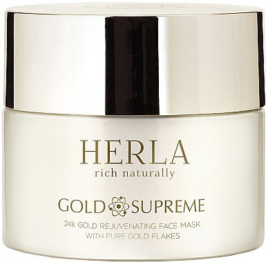 Verjüngende Gesichtsmaske mit Goldflocken - Herla Gold Supreme 24K Gold Rejuvenating Face Mask With Pure Gold Flakes — Bild N1