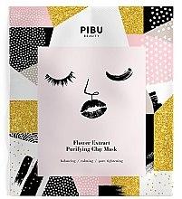 Düfte, Parfümerie und Kosmetik Reinigende Tuchmaske mit Tonerde und Blütenextrakten - Pibu Beauty Flower Extract Purifying Clay Mask