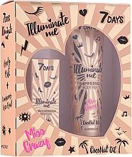 Düfte, Parfümerie und Kosmetik Gesichts- und Körperpflegeset - 7 Days Illuminate Me Miss Crazy №2 (Körpermilch 150ml + Creme-Fluid für das Gesicht 50ml)