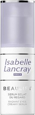 Regenerierendes und glättendes Serum gegen dunkle Augenringe und Tränensäcke - Isabelle Lancray Beaulift Radiant Eye Creamy Serum — Bild N2