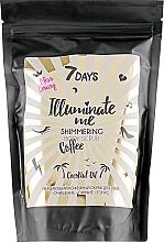 Düfte, Parfümerie und Kosmetik Schimmerndes Kaffee-Körperpeeling mit Kokosöl - 7 Days Illuminate Me Miss Crazy Coffee Shimmering Body Scrub