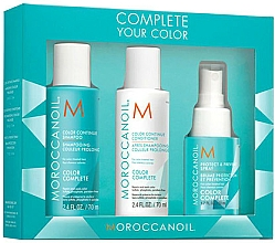 Düfte, Parfümerie und Kosmetik Haarpflegeset - Moroccanoil Travel Kit Color Complete (Shampoo 70ml + Conditioner 70ml + Haarspray 50ml)