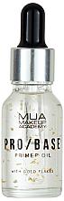 Düfte, Parfümerie und Kosmetik Gesichtsprimer mit Goldpartikeln - Mua Pro/ Base Primer Oil With Gold Flakes