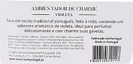 Gestreiftes Duftsäckchen mit Naturseife Veilchen - Essencias De Portugal Tradition Charm Air Freshener — Bild N2
