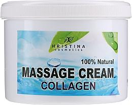 Düfte, Parfümerie und Kosmetik Pflegende glättende und aufweichende Massagecreme für Körper und Gesicht mit Kollagen - Hristina Cosmetics Collagen Massage Cream