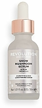 Düfte, Parfümerie und Kosmetik Feuchtigkeitsspendendes Gesichtsserum mit Silberohr-Extrakt und Glycerin - Revolution Skincare Snow Mushroom Serum