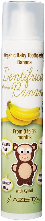 Zahnpasta für Kinder mit Bananengeschmack - Azeta Bio Organic Tooth Paste Banana — Bild N1