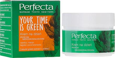 Feuchtigkeitsspendende und mattierende Tagescreme gegen Unvollkommenheiten - Perfecta Your Time is Green — Bild N1