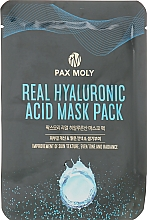 Düfte, Parfümerie und Kosmetik Anti-Aging Tuchmaske für das Gesicht mit Hyaluronsäure - Pax Moly Real Hyaluronic Acid Mask Pack