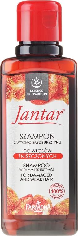 Shampoo mit Bernsteinextrakt für strapaziertes Haar - Farmona Jantar Shampoo