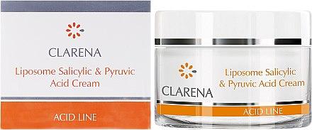 Gesichtscreme mit Salicyl- und Brenztraubensäure - Clarena Liposome Pyruvic Acid Salicylic & Cream — Bild N1
