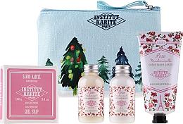 Düfte, Parfümerie und Kosmetik Körperpflegeset - Institut Karite Rose Mademoiselle (Duschgel 50ml + Körpermilch 50ml + Handcreme 75ml + Seife 100g)