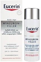 Düfte, Parfümerie und Kosmetik Tagespflege gegen Falten für normale Haut bis Mischhaut - Eucerin Hyaluron-Filler Day Cream For Combination To Oily Skin