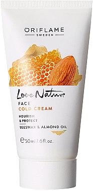 Schützende und pflegende Gesichtscreme mit Bienenwachs und Mandeln - Oriflame Love Nature Face Cold Cream — Bild N1