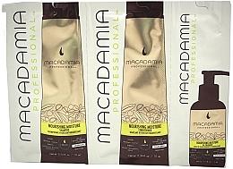 Düfte, Parfümerie und Kosmetik Haarpflegeset (Proben) - Macadamia Professional Nourishing Moisture (Shampoo 10ml + Conditioner 10ml + Haarmaske 5ml)