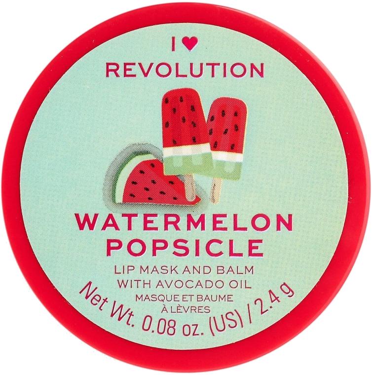 Lippenmaske-Balsam Wassermelonen-Eis am Stiel - I Heart Revolution Watermelon Popsicle Lip Mask & Balm — Bild N1