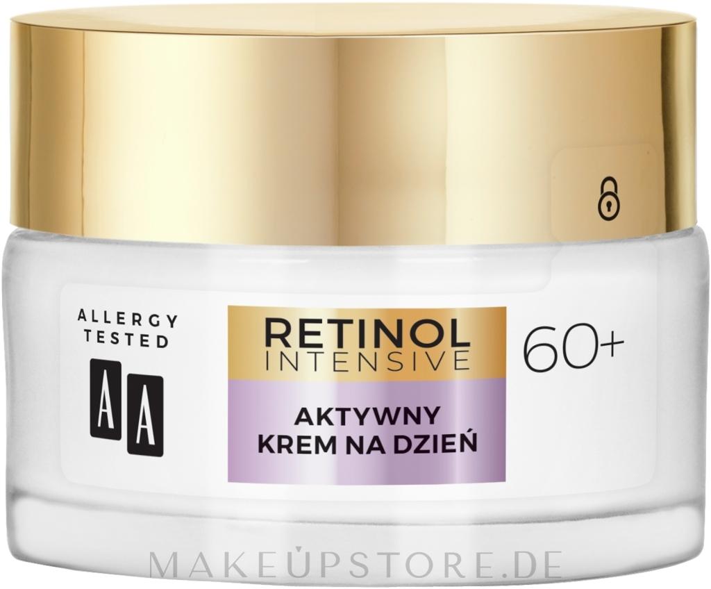 Aktiv glättende und feuchtigkeitsspendende Anti-Falten Tagescreme mit Bio Retinolkomplex für reife Gesichtshaut 60+ - AA Retinol Intensive 60+ Cream — Bild 50 ml