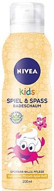 Badeschaum für Kinder mit Pfirsich-Apfel Duft - Nivea Kids Bio Aloe Vera — Bild N1