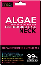 Düfte, Parfümerie und Kosmetik Tief feuchtigkeitsspendende Lifting-Tuchmaske für den Hals mit Algen 20+ - Beauty Face IST Deep Moisturizing & Lifting Neck Mask Algae