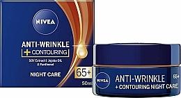 Düfte, Parfümerie und Kosmetik Konturierende Anti-Falten Nachtpflege für das Gesicht 65+ - Nivea Anti-Wrinkle Contouring Night Care 65+