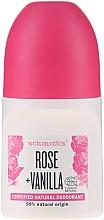 Düfte, Parfümerie und Kosmetik Natürliches Deo Roll-on - Schmidt's Rose + Vanille Deo Roll-On