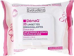 Düfte, Parfümerie und Kosmetik Make-up-Entfernungstücher mit Mandelmilch und Rosenextrakt - Evoluderm