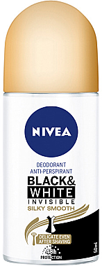 Deo Roll-on Antitranspirant Black & White - Nivea Black & White Invisible Silky Smooth Deodorant Roll-on — Bild N1