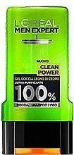 Düfte, Parfümerie und Kosmetik Duschgel - L'Oreal Paris Men Expert Clean Power Shower Gel