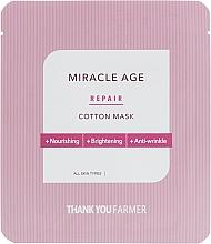 Düfte, Parfümerie und Kosmetik Pflegende und aufhellende Anti-Falten Tuchmaske für das Gesicht - Thank You Farmer Mask