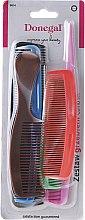 Düfte, Parfümerie und Kosmetik Donegal Hair Comb - Haarkamm-Set Farb-Mix 6 St. 9814