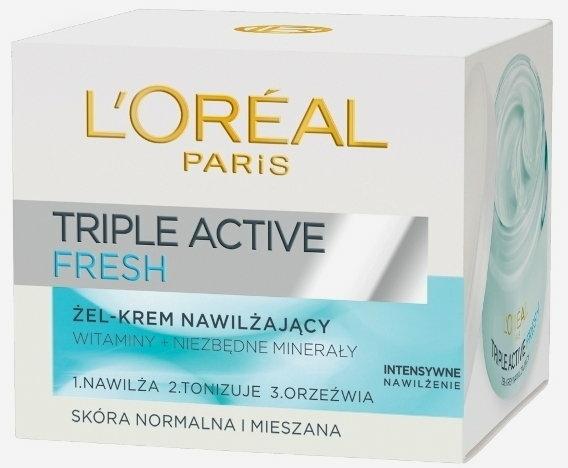 Ultra feuchtigkeitsspendende und erfrischende Gel-Creme mit Vitaminen und essentiellen Mineralien - L'Oreal Paris Triple Active Day — Bild N2