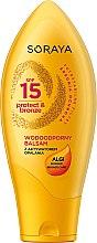 Düfte, Parfümerie und Kosmetik Feuchtigkeitsspendender und wasserfester Bräunungsbeschleuniger SPF 15 - Soraya Protect & Bronze Waterproof Sun Balm SPF15