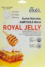 Düfte, Parfümerie und Kosmetik Feuchtigkeitsspendende und nährende Tuchmaske für das Gesicht mit Gelée Royale - Ekel Super Natural Ampoule Royal Jelly